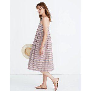 Madewell Rainbow Gingham Midi Sun Dress 4